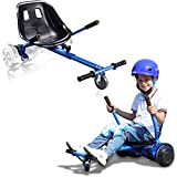 Adjustable Hoverboard Seat Attachment, Go Cart, Go kart, Hoverboard Accessories, Hoverboard Conversion Kit, With Heavy Duty Frame, Available to Fit All Ages, Fits 6.5'/8'/10' (Blue)