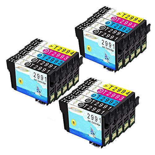 Wintinten 15 Pack di ricambio per Epson T29 T29xl T2991 T2992 T2993 T2994 cartuccia d'inchiostro compatibile per Epson Expression Home XP-235 XP-335 XP-435 XP-245 XP-247 XP-342 XP-442 XP-445