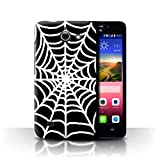 Phone Case for Huawei Ascend Y550 LTE Black Fashion Spider