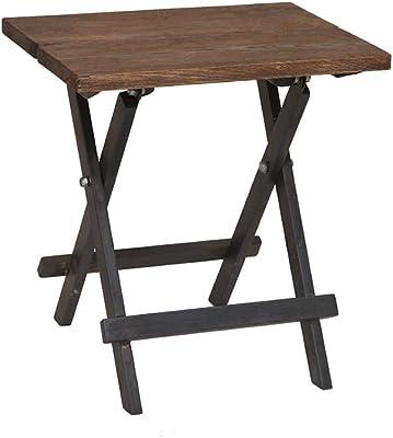 折り畳みテーブル 平方 ソリッドウッド レトロ ポータブル 多機能 コーヒーテーブル、 コンピューターデスク ダイニングテーブル 学ぶ ライティングデスク,Woodcolor,65*65*65cm