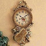 Wanduhr Geige Kunst Uhr Wohnzimmer Innotime Europäischen Stil Der Alten Uhr Nach Hause Stumm Auf Quarz - Uhr,B