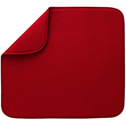 S&T INC. 408601 Dish Drying Mat, Standard, Red
