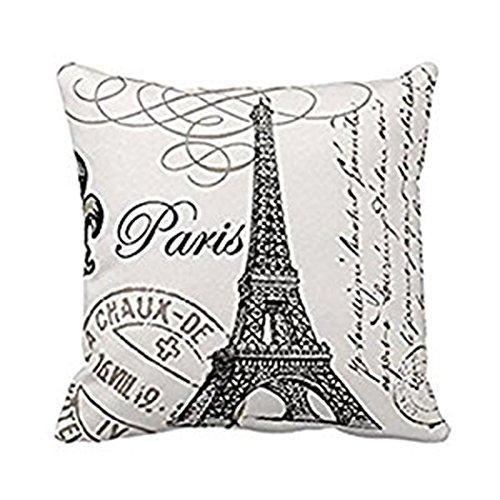 Cuscino Personalizzato Timbro Francobollo di Parigi Decorazioni di Halloween Copricuscini e federe Cuscino per Divano, Cuscino