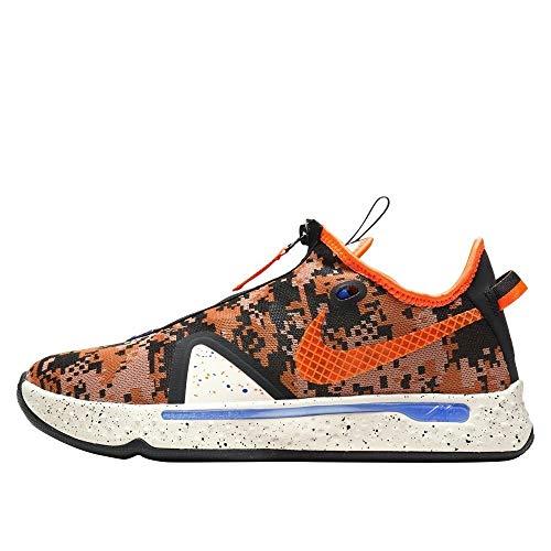 Nike Herren PG4 Bred Digi Camo Basketball Schuhe CD5079-200, Orange (Helles Creme/Total Orange), 41 EU