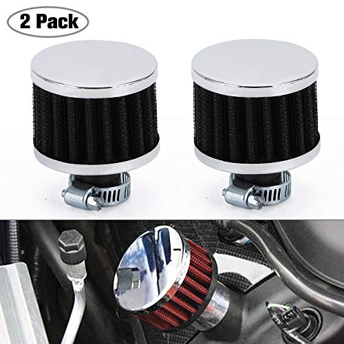 PTNHZ Universal 2 PCS 12mm Auto Cone Mini oil Air Intake Filter Crankcase Vent Valve Cover Breather Filter Flow Air Filters