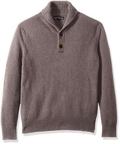 J.Crew Mercantile Men's Lambswool Nylon Shawl Collar Sweater, Heather Mink, M