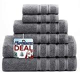 American Soft Linen 6-Piece 100% Turkish Genuine Cotton Premium & Luxury Towel Set for Bathroom &...