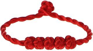 SimpleLife Pulsera con Correa de Cuerda afortunada 5 Perlas anudadas Pulsera de Hilo Rojo de Chino Feng Shui Brazalete para bebé Mujeres niñas