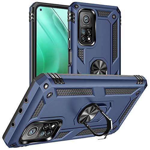 DAWEIXEAU Custodia Xiaomi Mi 10T / Mi 10T Pro 5G,Silicone Cover Armatura Antiurto Copertura Cassa Custodia per Xiaomi Mi 10T / Mi 10T Pro 5G (Blu navy)