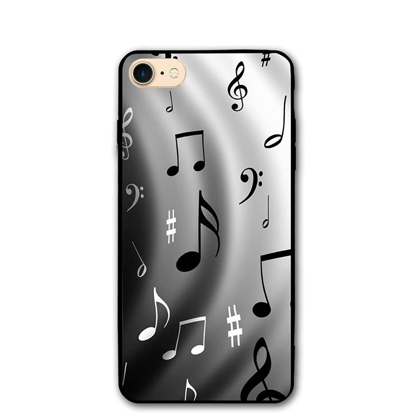 4.7 Inch iPhone 8 Case Music Notes Anti-Scratch Shock Proof Hard PC Protective Case Cover