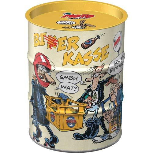 Nostalgic-Art, Hucha Retro MOTOmania – Caja de Dinero para motoristas, Idea de Regalo para motoristas, Hucha de Metal Vintage, 600 ml