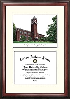 One Size Campus Images NCAA Penn State Nittany Lions Unisex Silver Medallion Frame Penn State University 11w x 8.5h Silver Embossed Diploma Frame Lithograph Brown
