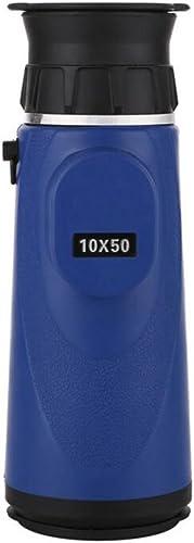 LXYFMS Télescope portable Haute Définition Monoculaire Imperméable 10x50 Grand Oculaire Télescope (Couleur   bleu)