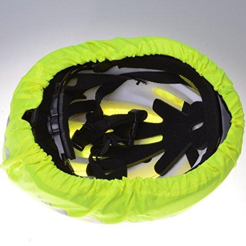 Filmer 46.850 Regenschutz Helm / Überzug für Fahrradhelm / Reithelm etc. – neongelb – reflektierend - 4