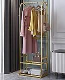 Perchero de suspensión de piso con estante de almacenamiento estante de secado muebles de dormitorio armario dorado negro blanco