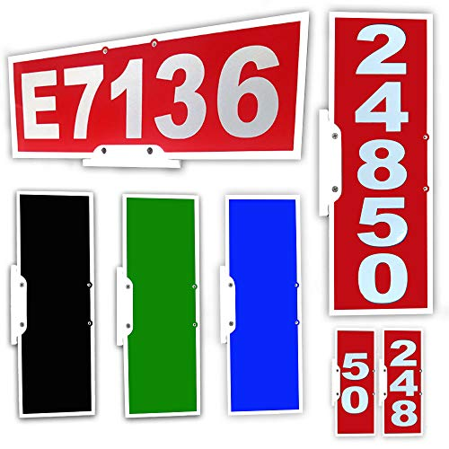 Mailbox Address Plaque, Red Horizontal ,Reflective 911 Plate, Most Visible Mailbox Address Marker Money Can Buy!