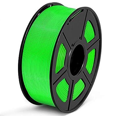 SUNLU PLA Filament 1.75mm 3D Printer Filament PLA 1kg Spool (2.2lbs), Dimensional Accuracy of +/- 0.02mm PLA Green