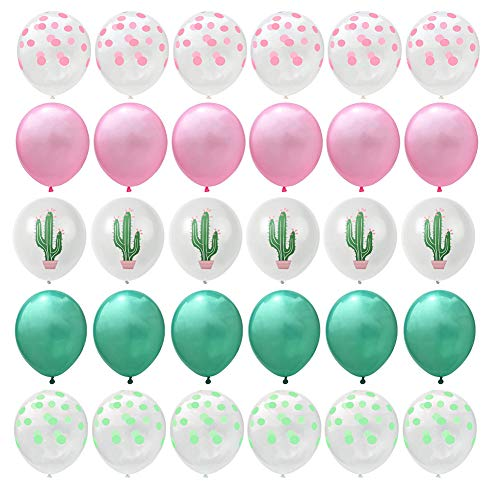 Westeng 30 Stück Ballon Drucken Ballon Naturkautschuk Luftballons für Geburtstag Hochzeit Party Baby Duschen Festival Dekoration (Kaktus)
