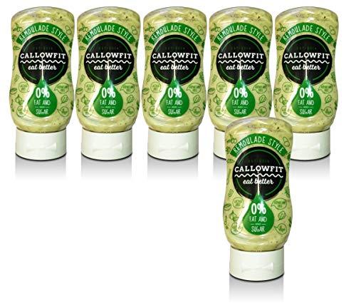 Callowfit Low Carb Sauce 0% Fat & Zucker - Diätsoße - Remoulade Style - 6er Pack (6 x 300ml)