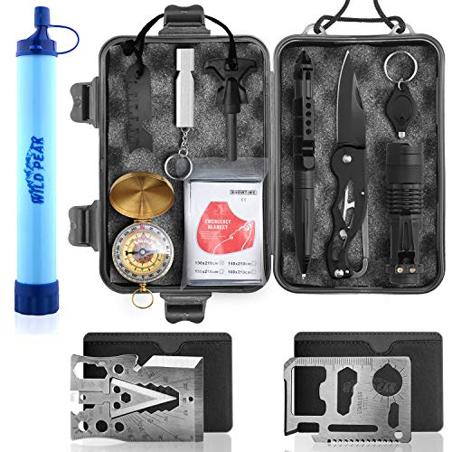 Wild Peak Prepare-1 Survival Tool Kit Bundle