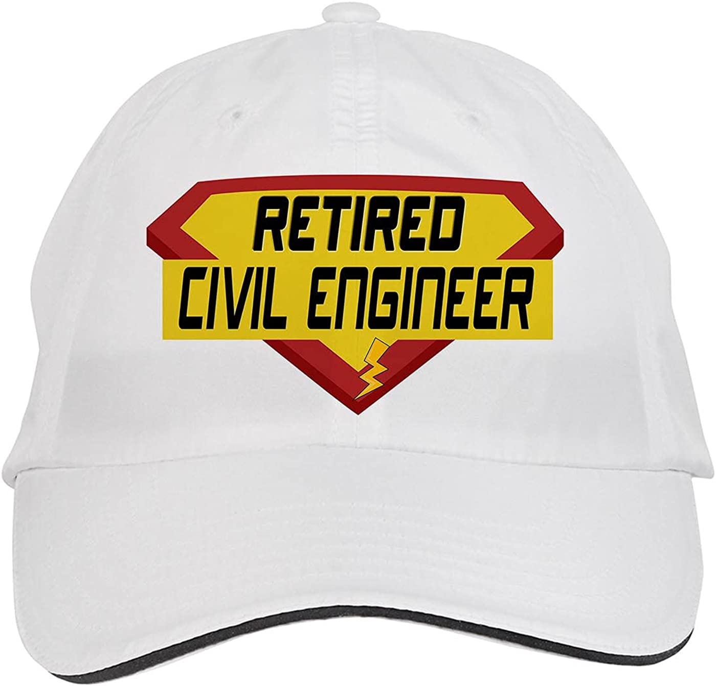 Makoroni - Retired Civil Engineer Career Hat Adjustable Cap, DesJ82 White