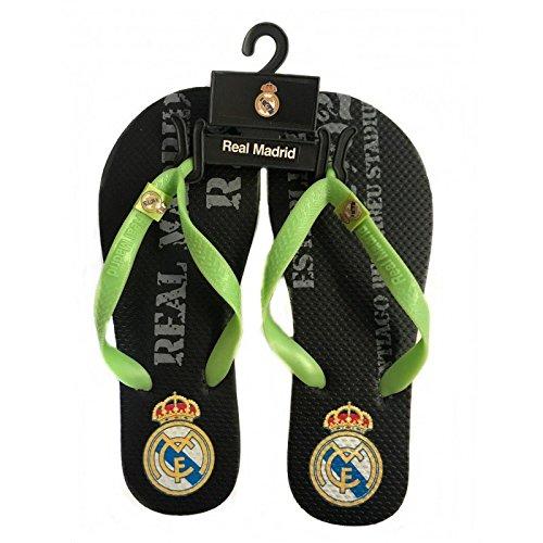 Chanclas Negras Real Madrid Adulto (41/42)