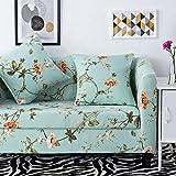 Fundas SofáCian Floral Fundas Sofa Elasticas,Funda de Sofa Chaise Longue,Moderna Cubre Sofa,La Funda para Sofa Jacquard de Poliéster (235-310cm)
