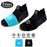 TTY Footwear Socks for Dancing on Slick Floors - on Sneakers - Smooth pivots and Turns Dancing on Wooden Floors - Unique Style—Smooth Pivot and Dance in Style on The Wooden Floor - Protect The Knee