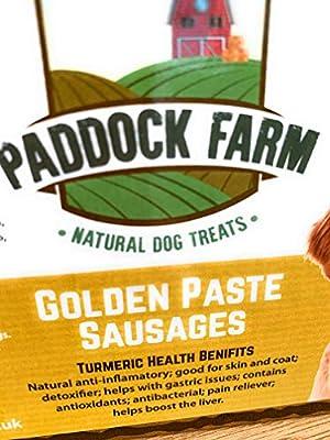 Pets Take Away Golden Paste Turmeric Sausages 100% Natural Healthy Dog Treats (500gm)