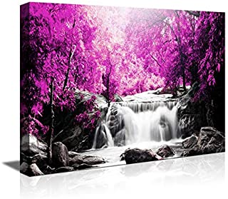 Wall Art for Living Room Simple Life Purple Tree Waterfall Landscape Abstract Painting Office Wall Art Decor 12