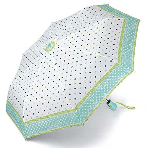 Esprit Easymatic light polka dots acqua 50971 Regenschirm Taschenschirm Schirm Schirme