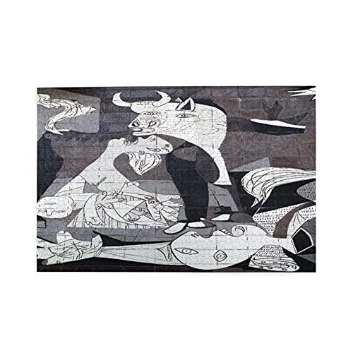 Rompecabezas 1000 Piezas,Guernica,España - Octubre 10,2015_ Una pared de azulejos en Gernika recuerda el bombardeo durante la Guerra Civil Española.,Juego de rompecabezas para familias numerosas