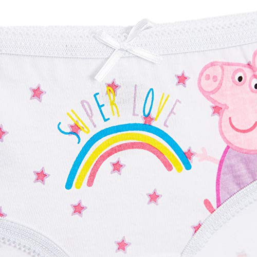 Peppa Pig Underwear Girls Pack of 5 Magical Unicorn Various Designs, 100% Soft Cotton Briefs Pants Knickers, Baby Girl Underwear, Unicorn Gifts for Girls Toddlers Stocking Fillers (4/5 Years)