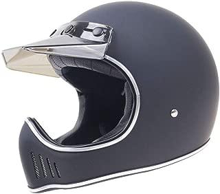 TEQIN Motorcycle Off-Road Racing Helmet Full Face Helmet Outdoor Racing Helmet Matte Black XXL