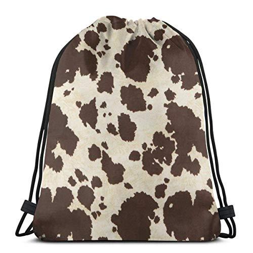 Mochilas de Cuerdas Bolso colorido de la secuencia del bolso de la cincha del saco del gimnasio de la mochila del lazo del perro del barro amasado 36X43CM