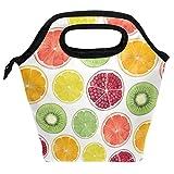 Bolsa para el almuerzo, diseño de frutas y limón, reutilizable, aislante, para mujeres, niños, parrillas, almuerzos, preparación de comidas, bolso de mano para la escuela, picnic, oficina