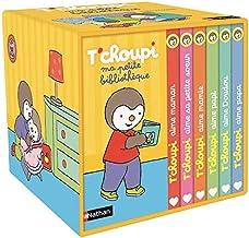 Ma petite bibliothèque T'choupi : Contient 6 livres : T'choupi aime maman ; T'choupi aime papa ; T'choupi aime sa petite soeur ; T'choupi aime mamie ; T'choupi aime papi; T'choupi aime doudou