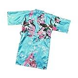 2020 New Toddler Baby GirlsBlumen Kimono Roben Bademantel Nachtwäsche Weiche Sommer Kinder Schlafkleidung Roben-Sky Blue-1-3T