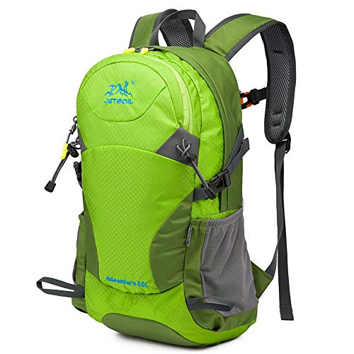 30L Ultra Lightweight Hiking Backpack, Chickwin Foldable Multi-functional Casual Rucksack Travel Daypack Bag for Men Women Outdoor Sport Camping Mountaineering Walking Climbing (48 * 18 * 28cm,green)
