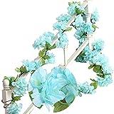 MZMing 2 piezas x 235 cm Flor artificial Flor de cerezo Colgante...