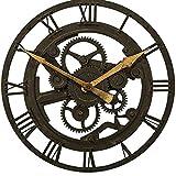 HYLR Orologio da Parete a Ingranaggi 14 Pollici Europeo Circolare Orologio da Parete Soggiorno Orologio da Parete Orologio nostalgico ad Angolo retrò Creativo