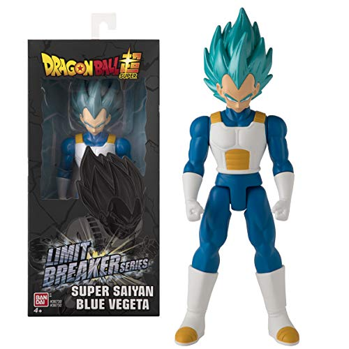 BANDAI- Dragonball Dragon Ball Action Figure Gigante Limit Breaker da 30 cm-Super Saiyan Vegeta Blue-36732, 36732