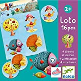 Djeco- Juegos de acción y reflejosJuegos educativosDJECOEducativos Loto 4 Estaciones, Multicolor (DJ08123)