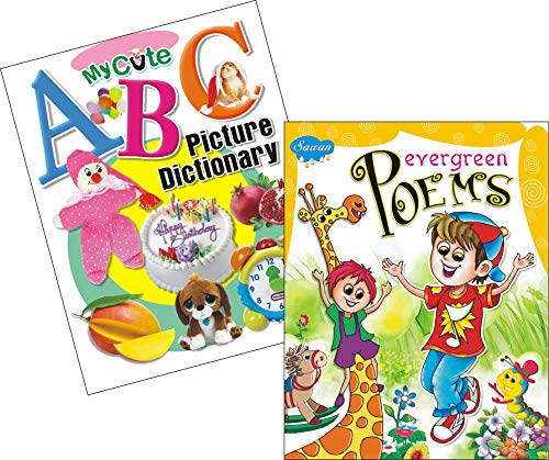 My Cute ABC Picture Dictionary | Evergreen Poems | Pack of 2 Books