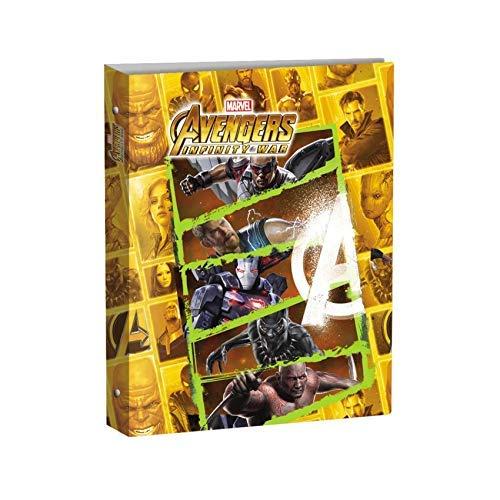 Carpeta de anillas A4 Maxi Ø30 Avengers Infinity War – para escuela primaria