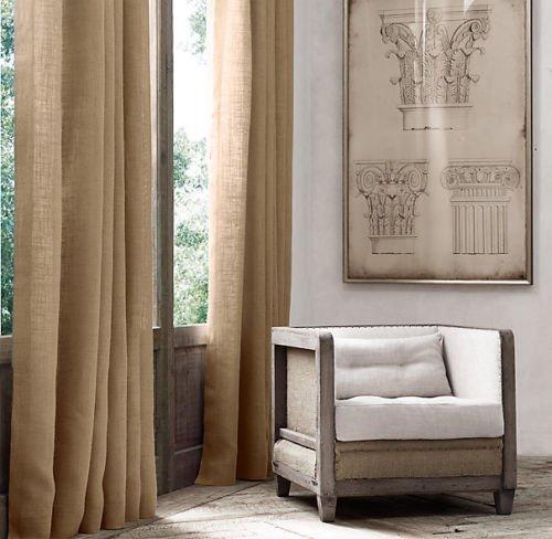 """Ak-Trading Burlap Drape Panel 2pc Set Backdrop 100% Jute Curtain 5ft x 7ft (60"""" X 84"""") Natural"""