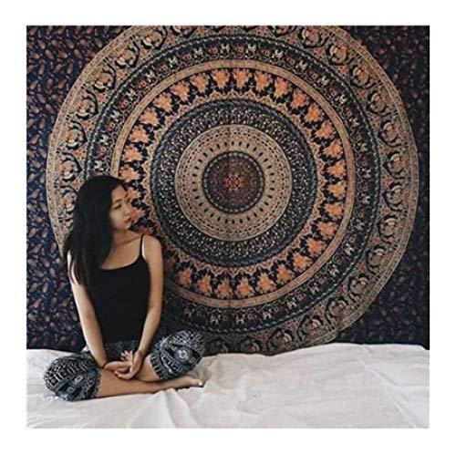 genericgeneric wandtapijt Indiaas mandala tapijt wandbehang Boho decoratief wandkleed tapijt psychedelische camouflage hippie nacht maan tapijt mandala tapijt -C_150x200cm