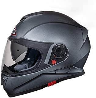 SMK GLDA600 Twister Pinlock Fitted Full Face Helmet with Clear Visor (Anthracite, L)