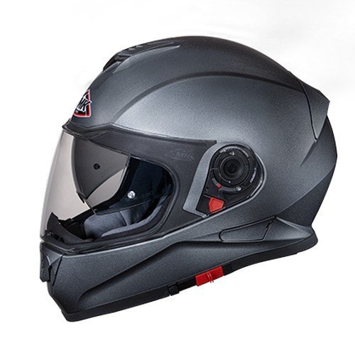 SMK GLDA600 Twister Pinlock Fitted Full Face Helmet with Clear Visor (Anthracite,...