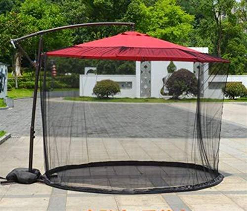 RUINAIER Jardín al Aire Libre Paraguas mosquiteras Mosquitera for Parasol Garden Parasol Umbrella Patio Mesa Cubierta de la Red de Mosquito Pantalla Bug Red Cubierta